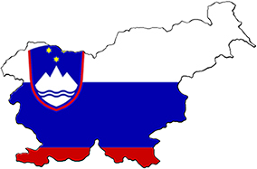 Slovenia map flag